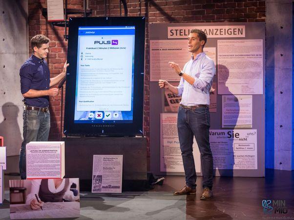 Karl Edlbauer und Daniel Laiminger pitchen bei TV Show 2 Minuten 2 Millionen